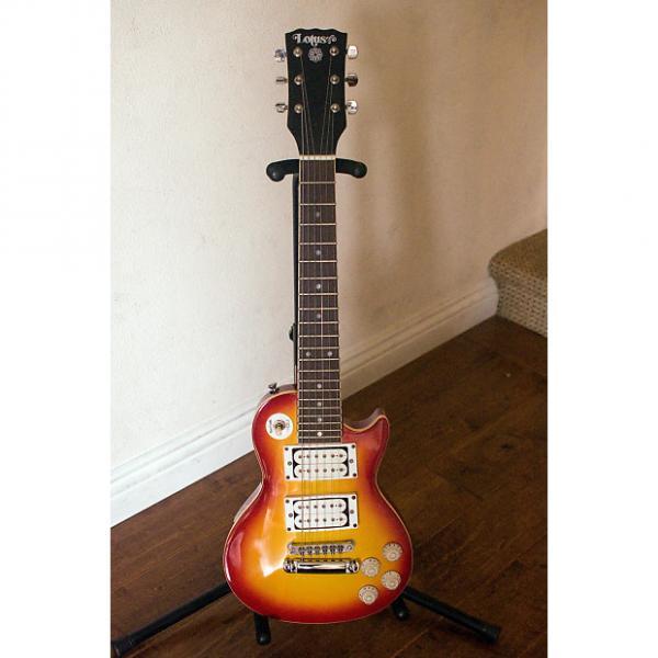 Custom Lotus Vintage Mini Les Paul Guitar Electric EG-LP 1980s Cherry Sunburst #1 image