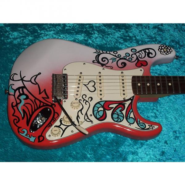 Custom Jimi Henderix Monterey Pop Fest Fender Stratocaster Strat California Series USA American no standard #1 image
