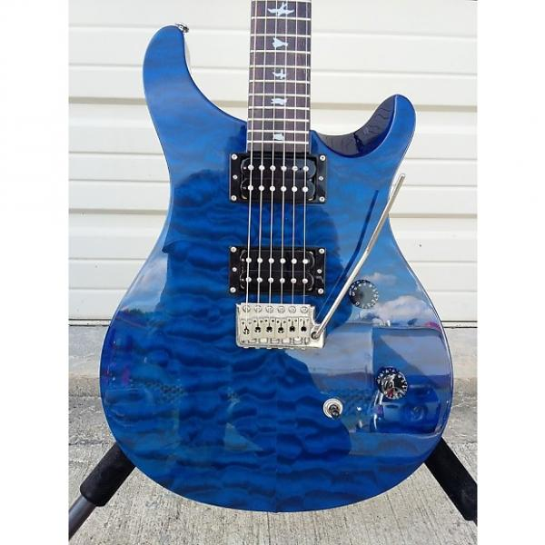 Custom PRS SE Custom 24  Quilted maple top in Royal Blue 25th Anniverary model #1 image