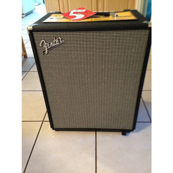Custom Fender Rumble 200 Bass Amp  Amplifier Combo 2016 Black & Gray #1 image