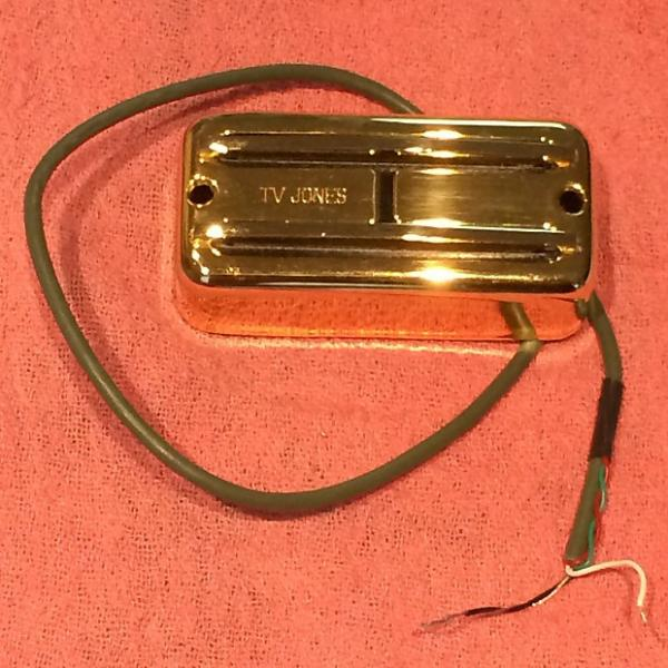 Custom TV Jones Super'tron Bridge Pickup Gold #1 image