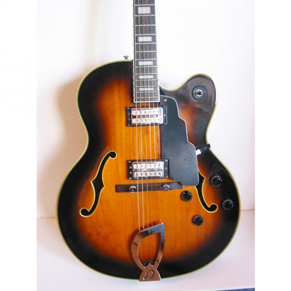 Custom 1999 DeArmond by Guild X-155 Hollow-body jumbo jazz box w/ OHSC in Tobacco Sunburst #1 image