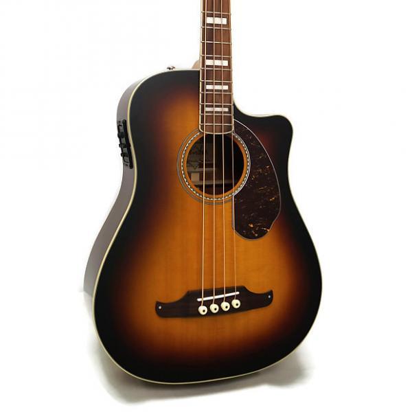 Custom Fender Kingman Bass SCE Dreadnought Cutaway Acoustic-Electric Bass w/ Case - 3-Color Sunburst #1 image