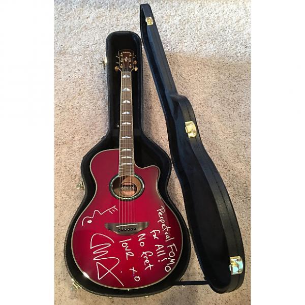 Custom Liam Finn AUTOGRAPHED Yamaha APX900 Acoustic/Electric Cutaway Guitar 2010 Crimson Red Burst #1 image