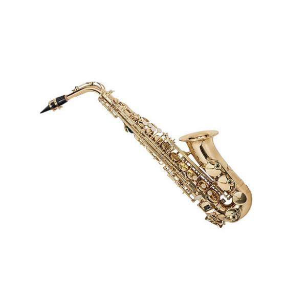 Custom Eb Alto Saxophone Gold Lacquer Finish, Pad Saver, Neck Strap, Hard Case (609436) #1 image