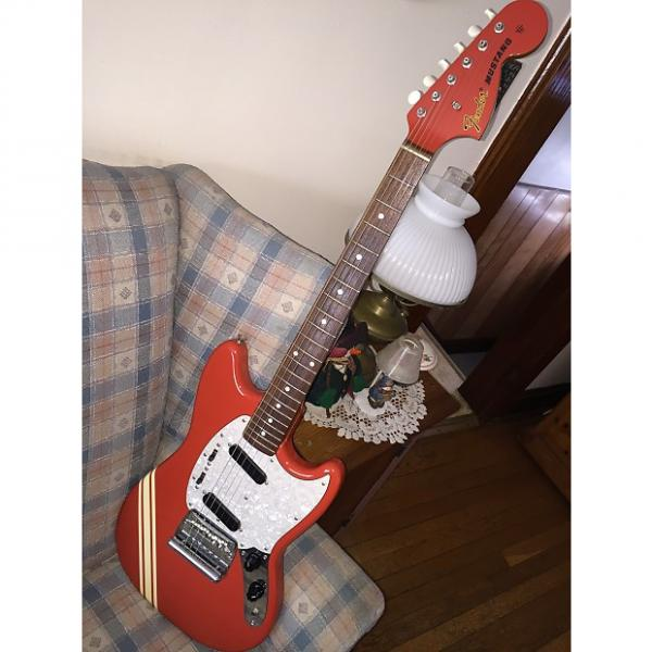 Custom Fender Mustang MIJ 73 reissue Red with white stripe #1 image