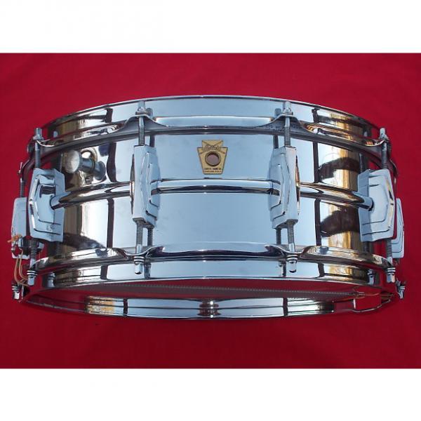 Custom Vintage 1960s Ludwig 5x14 Supraphonic Chrome Over Brass Snare Drum #1 image