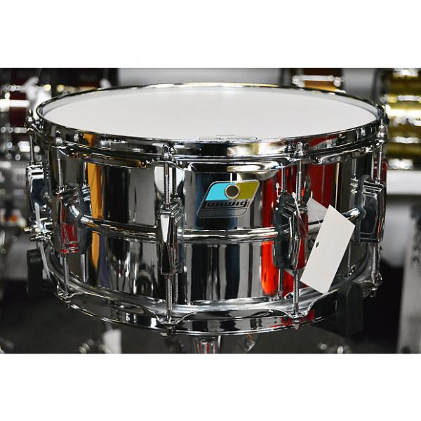 """Custom Ludwig Supraphonic LM402 6.5""""x14"""" Snare Drum - Blue and Olive badge #1 image"""