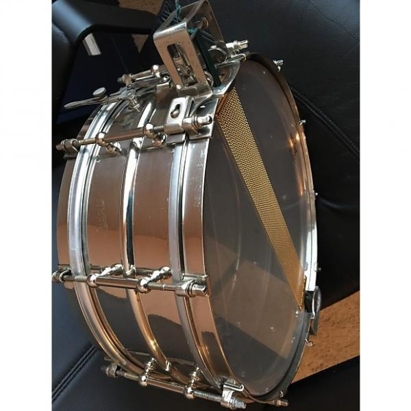 "Custom Ludwig 5x14"" Super Sensitive Brass Snare Drum w/ Parallel Snare System 1935 nickel brass #1 image"