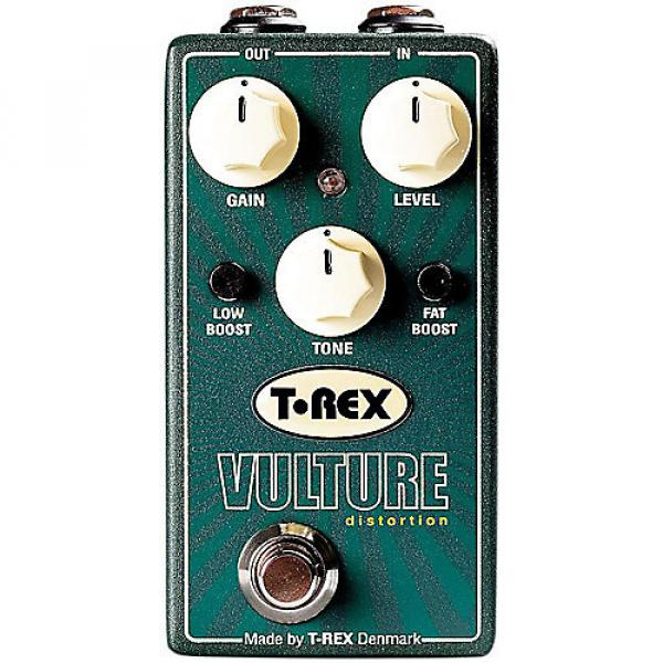 Custom T-Rex Engineering Vulture Distortion Guitar Effects Pedal with Low and Fat Boost - brand new #1 image