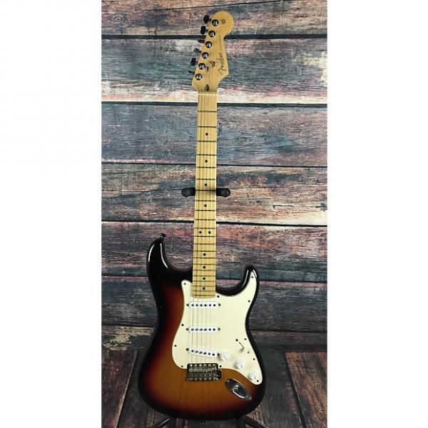 Custom Fender  USA Stratocaster 2006 Satin Sunburst with Fender gig bag #1 image