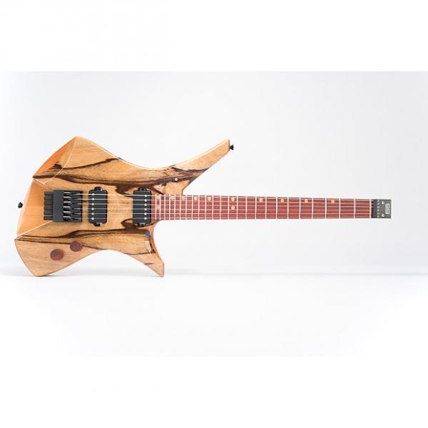 Custom Downes Guitars Model 101H - Black Korina top headless 6-string #1 image