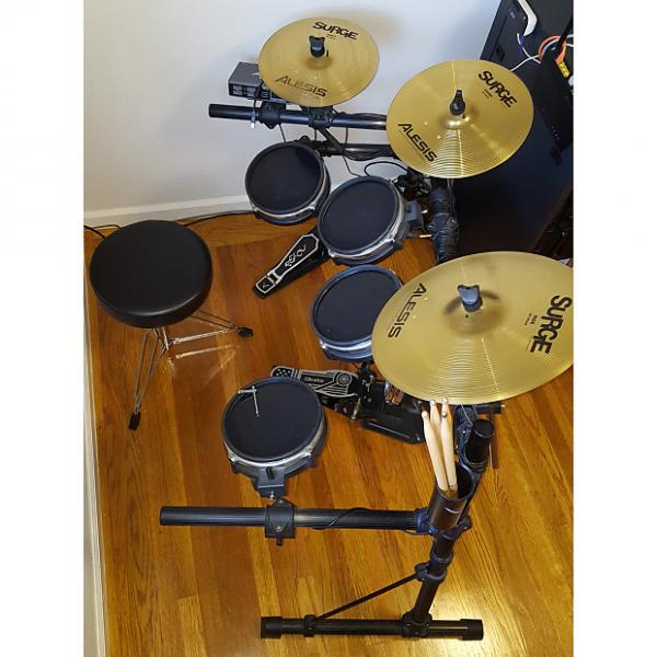 Custom E-Drums Alesis USB Pro Drums Hybrid Acoustic Electronic Drumset with Surge Choke Cymbals & Extras #1 image