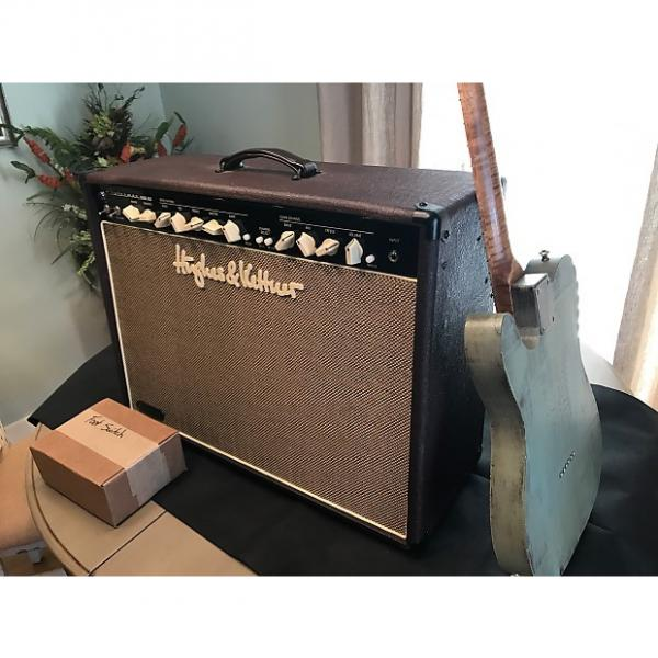 Custom Hughes & Kettner Statesman 6L6 2x12 Oxblood guitar combo amp with cover Vintage Fender style tone #1 image