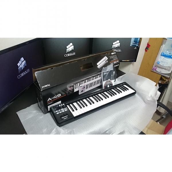 Custom Roland A49 MIDI Controller Keyboard Black #1 image