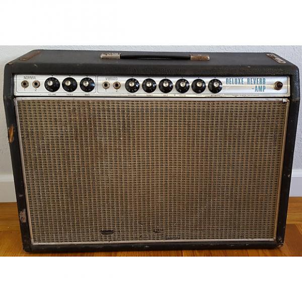 Custom 1968 Fender Deluxe Reverb Amp Silverface Drip Edge Vintage Combo Guitar Amplifier #1 image