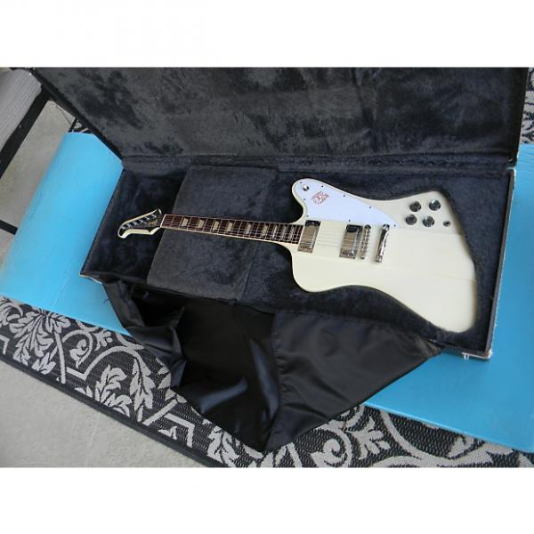 Custom 2005 Gibson Firebird V Reissue White Finish Has Yellowed Original Banjo Tuners & Case Johnny Winter #1 image