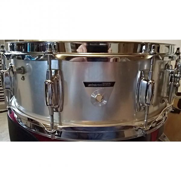 Custom Ludwig Standard  Late 1968 thru 1970 Grey Brushed Aluminum with original case and stand #1 image