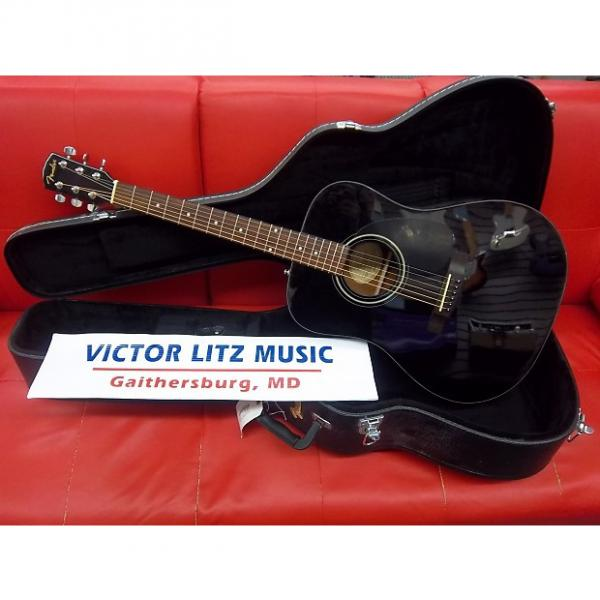 Custom Fender CD-60 Dreadnought Acoustic Guitar Black with OHSC #1 image