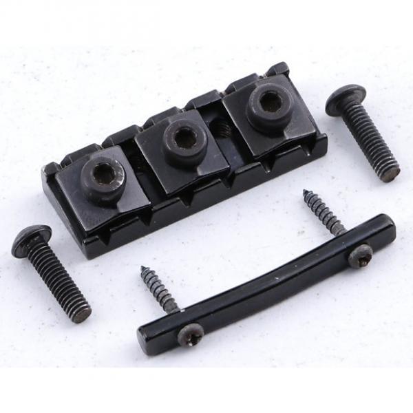 Custom Ibanez Standard 43mm Locking Nut Black Finish LN-2728 #1 image