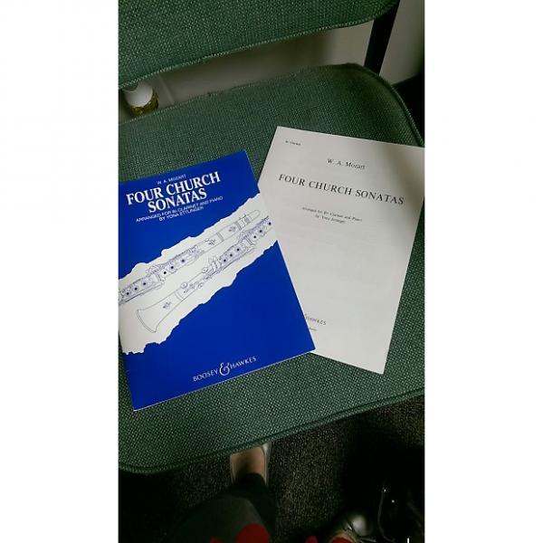 Custom Clarinet -Four Church Sonatas W.A. Mozart Boosey & Hawkes Clarinet and Piano #1 image