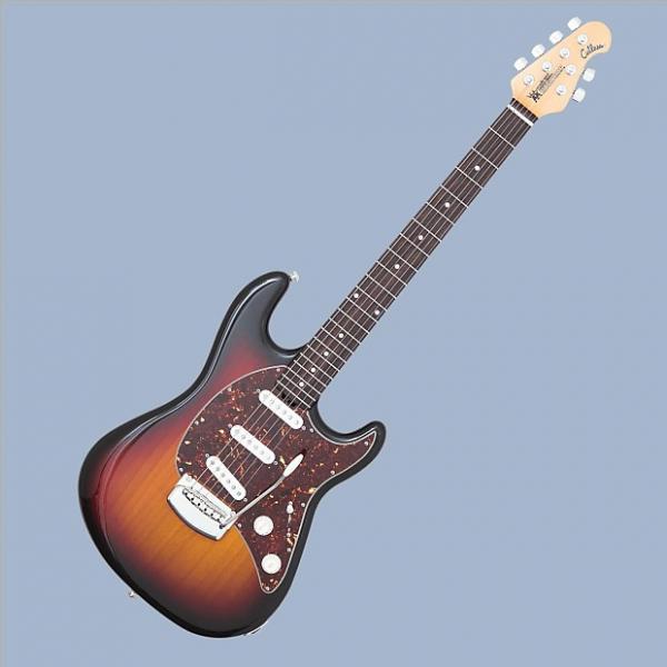 Custom Ernie Ball Music Man Cutlass  2017 Vintage Sunburst w/Hard Shell Case #1 image