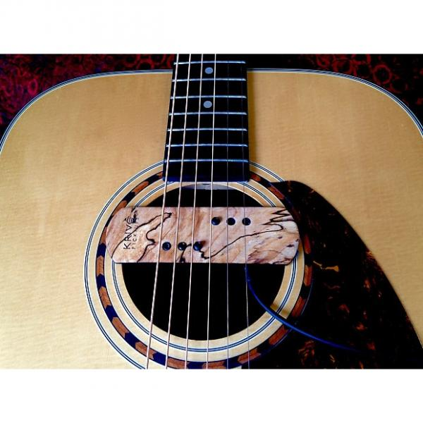 Custom Krivo Limited Edition Spalted Maple Modéle Acoustíque Magnetic Soundhole Pickup for Acoustic Guitar #1 image