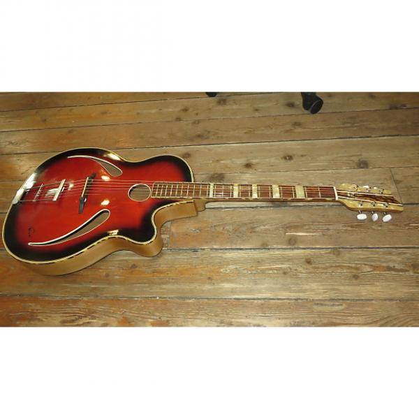Custom Vintage 1960's Penzel Cats Eye Archtop Acoutic Guitar Perfect Action Made In Germany w/ Gig Bag #1 image