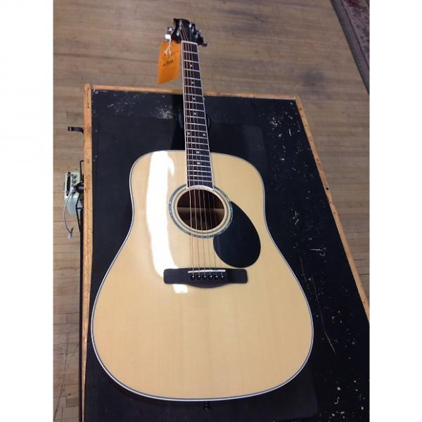 Custom Greg Bennett Samick Acoustic  Natural #1 image