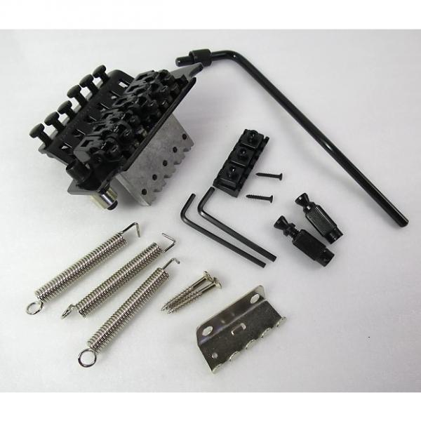 Custom Floyd Rose Licensed Complete Double Locking Tremolo System Black All Hardware Included #1 image