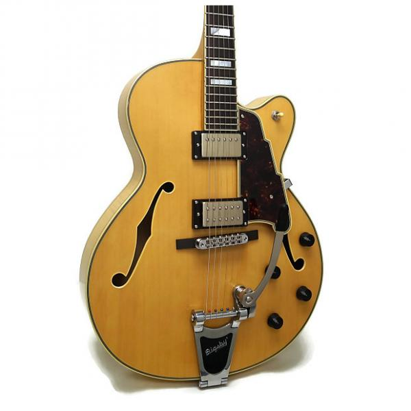 Custom D'Angelico EX-175 Excel Series Hollowbody Electric Guitar w/ Case - Natural Tint #1 image