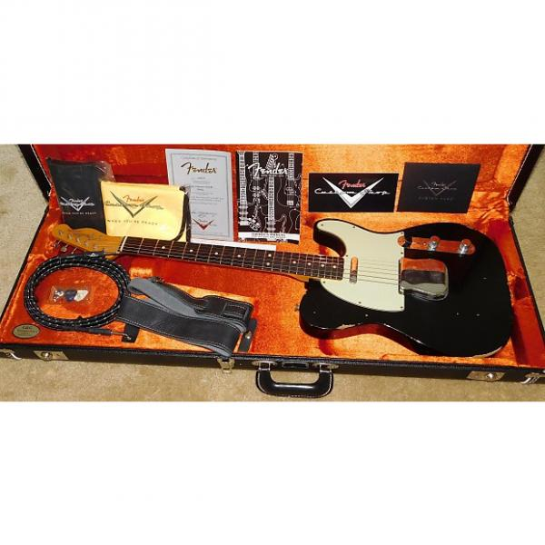 Custom Fender 1963 Telecaster Relic Electric Guitar*Custom Shop*2016*Aged Black #1 image
