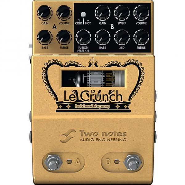 Custom Two Notes Audio Engineering Le Crunch 2-Ch British Tones Tube Preamp Pedal #1 image