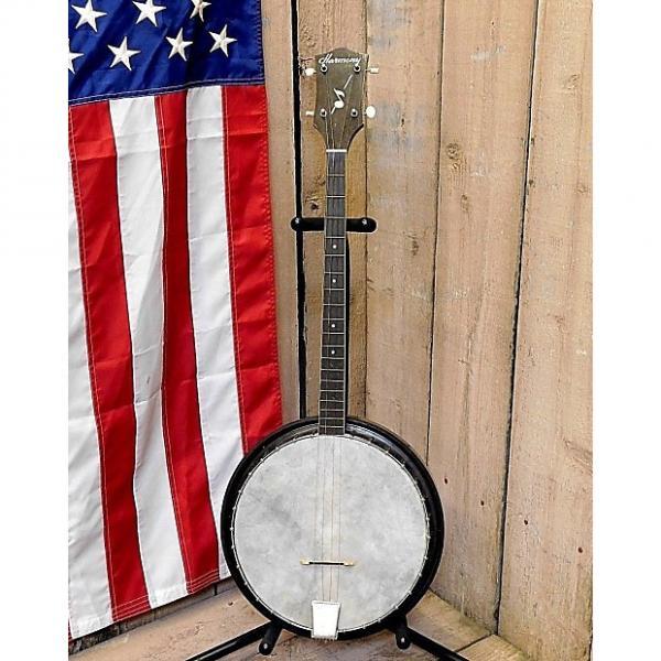 Custom Vintage 1950's Harmony Res-O-Tone Tenor Resonator Banjo w / Case! #1 image
