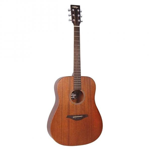 Custom Vintage V400MH Mahogany Dreadnought Acoustic Guitar #1 image
