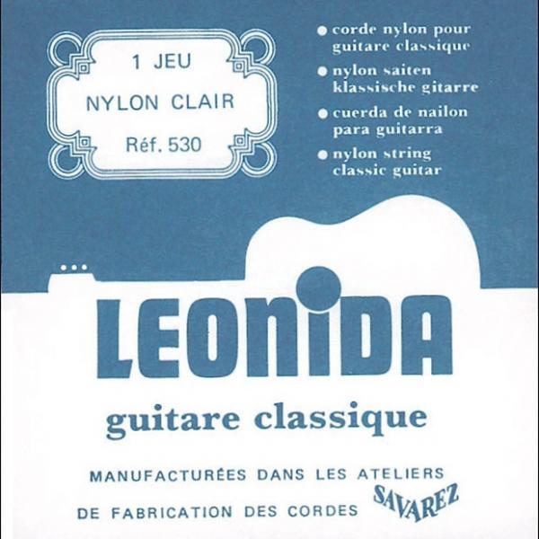 Custom Savarez 530 Leonida Classical Strings Clear Nylon Treble Silverwound Bass Normal #1 image