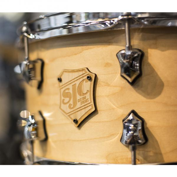 Custom SJC Custom 7x13 Maple Snare Drum in Satin Natural #1 image