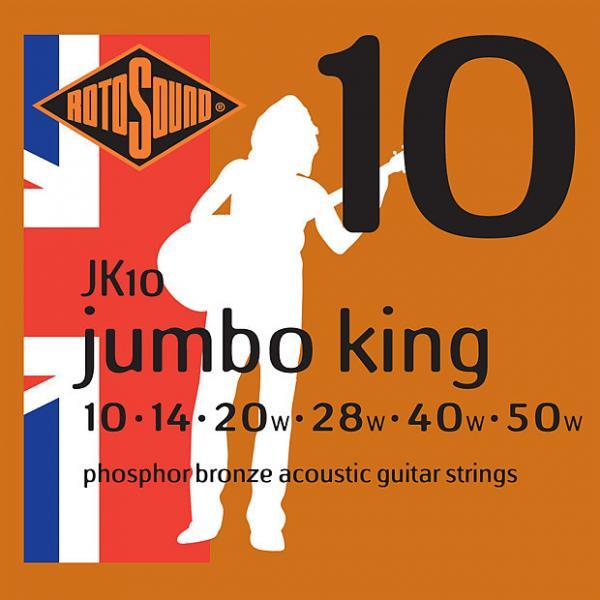 Custom Rotosound JK10 Jumbo King Phosphor Bronze Acoustic Guitar Strings 10-50 #1 image