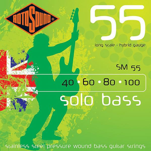 Custom Rotosound SM55 Linea Pressure Wound Bass Guitar Strings 40-100 #1 image