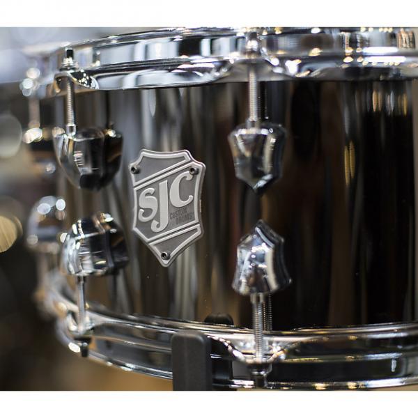 Custom SJC 6.5x14 Black Nickel Over Steel Snare Drum #1 image