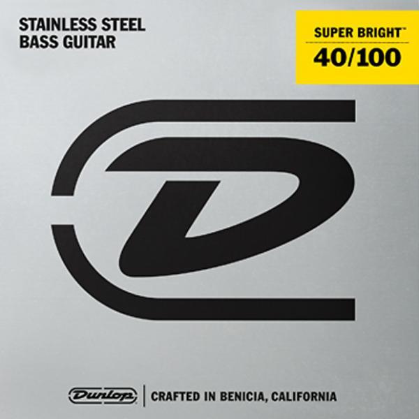 Custom Dunlop Super Bright Steel Wound Bass String Set .40-.100 3 Sets @ $29.00 #1 image