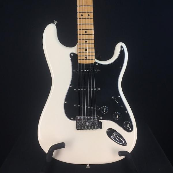 Custom Fender Standard Stratocaster 2009 Olympic White Maple Neck Black Pickguard #1 image