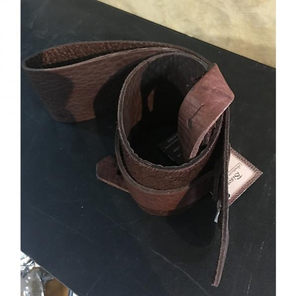 "Custom Lakota Leather 3"" Guitar Strap | Chocolate #1 image"