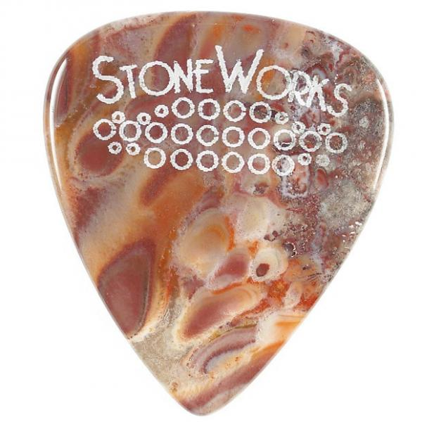 Custom Serape Jasper - Stone Guitar Pick #1 image