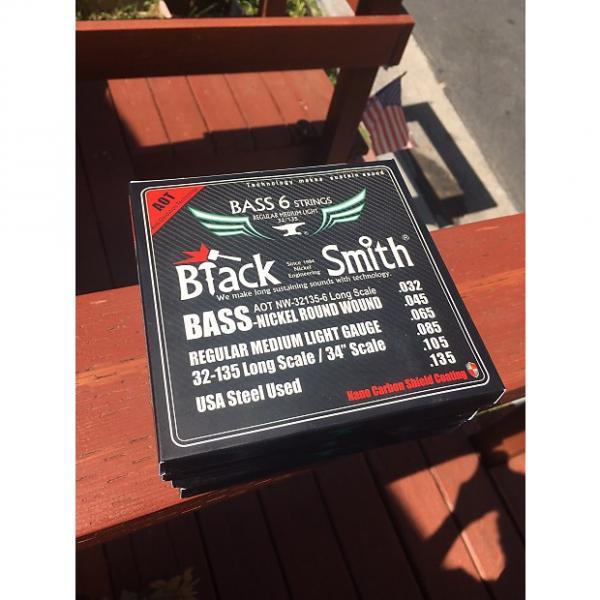 Custom EASTER SALE! - 4 Sets Of BlackSmith 6-String 32-135 Bass Strings #1 image