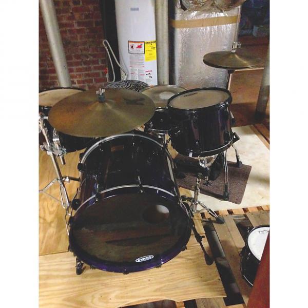 Custom Pearl Masters Custom Maple Drum Kit 2000's Black & Purple #1 image