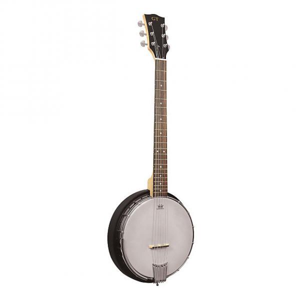Custom Gold Tone AC-6 Left-Handed Acoustic Composite 6-String Banjo Guitar with Gig Bag #1 image