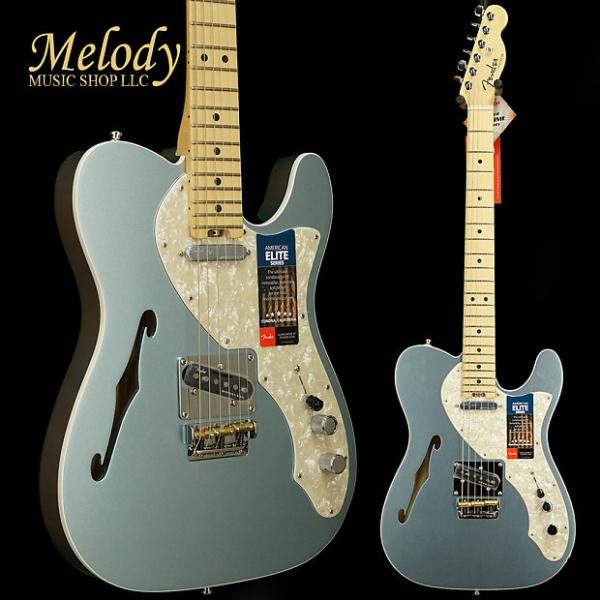 Custom Fender American Elite Telecaster Thinline, Maple Fingerboard, Mystic Ice Blue #1 image