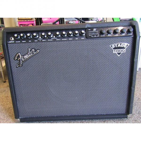 Custom Fender Dyna-Touch III Stage 1000 Guitar Combo Amp w/footswitch #1 image