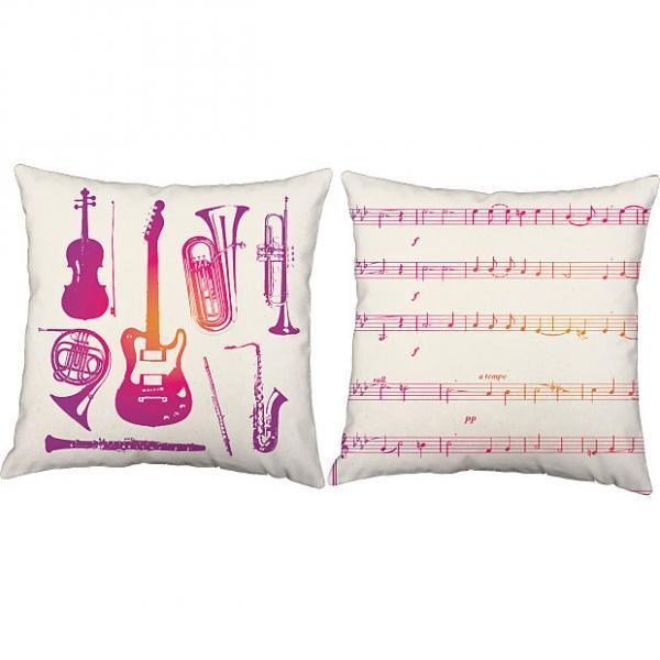 Custom Pink Instruments - RoomCraft Throw Pillows #1 image